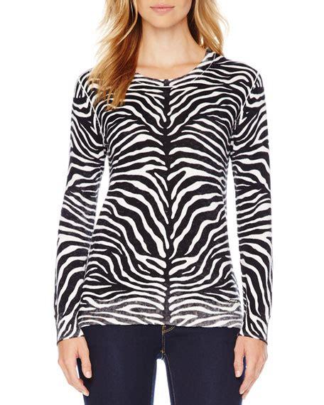 Knit Sweater Zebra michael michael kors zebra print knit sweater