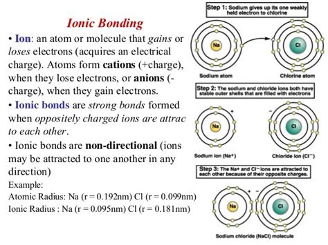 physical science section 6 1 ionic bonding ionic bond