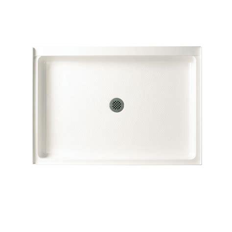 swan veritek 34 in x 54 in single threshold shower floor