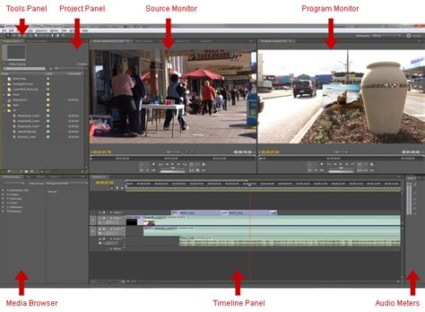adobe premiere pro overview adobe premiere workspace overview