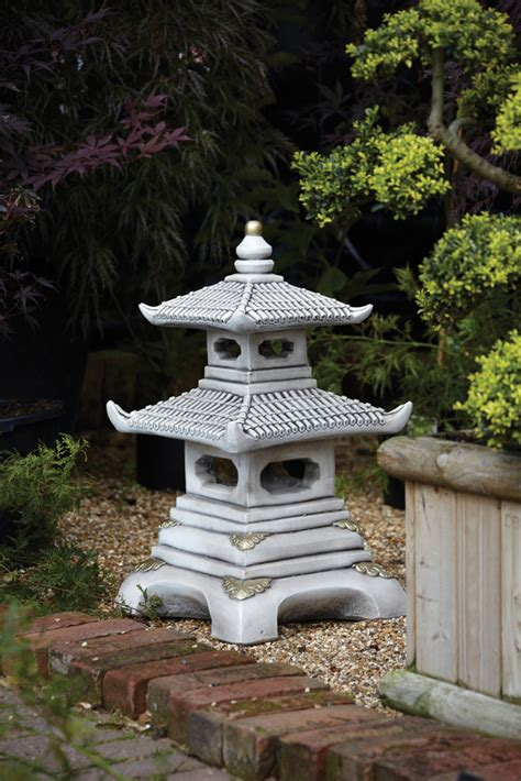chinese garden ornaments two tier japanese pagoda