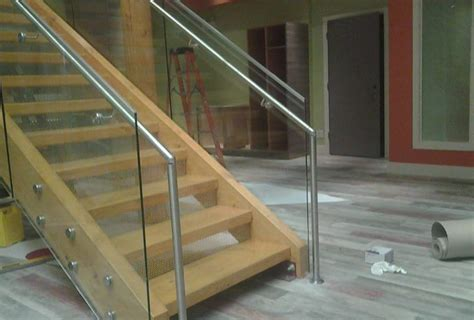 Handrails Vancouver vancouver interior glass railing installations of interior glass railings in vancouver bc