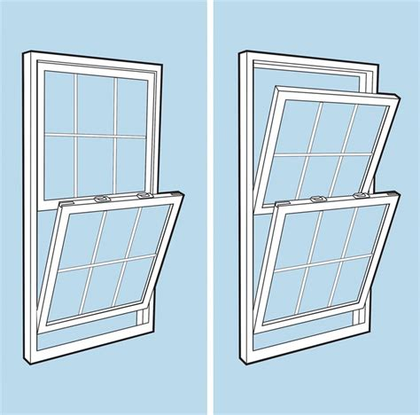 window style double hung vs single hung windows