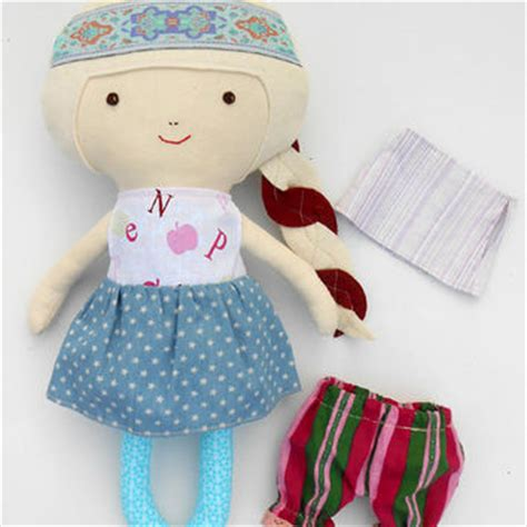 rag doll fabric dolls cloth doll from lalobastudio on etsy