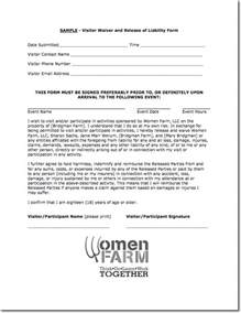 waiver of liability form template free printable liability release form template form generic