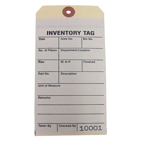 Inventory Tag Template 15 Inventory Tag Templates Free Sle Exle Format Download Free Premium Templates