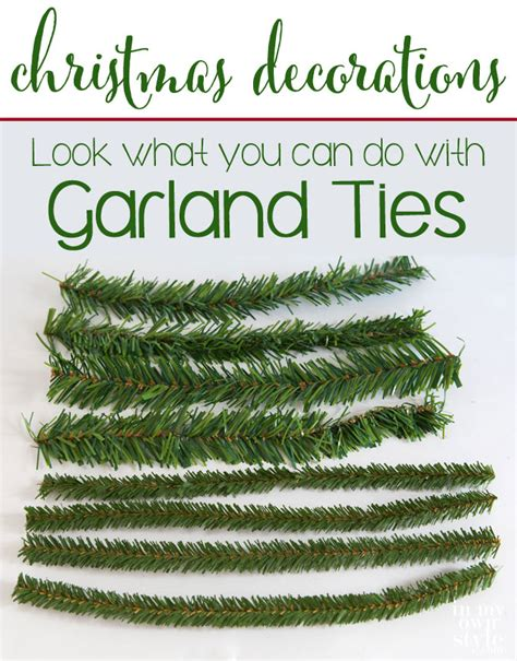 decorate my home christmas decorations using garland ties in my own style