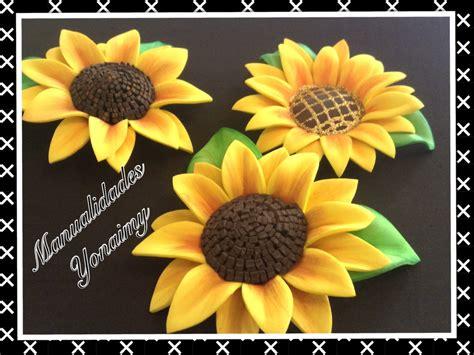 girasoles moldes de flores para hacer arreglos florales en girasoles hechos con foamy o goma eva youtube