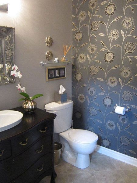 pinterest wallpaper accent wall studio7 bathrooms homedecorating home decorating
