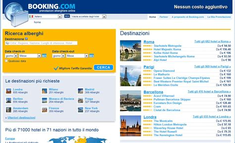 prenotazione albergo booking dove prenotare un albergo hotel senza costi