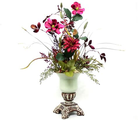 silk flower arrangements for dining room table spring decor silk flower arrangement home decorating dining