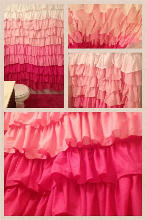pink ruffle shower curtain pink ruffled shower curtain first sewing project ever