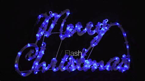 blue white merry xmas rope light sign youtube