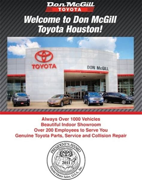 Toyota Dealership In Katy Tx Don Mcgill Toyota Houston Tx