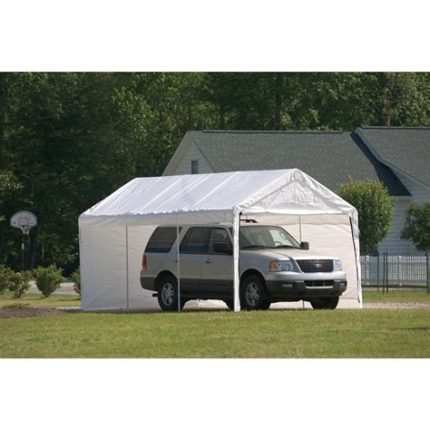 garage awning kit shelterlogic 10x20 8 leg canopy with enclosure kit