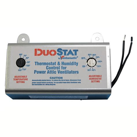 thermostat controlled attic fan xxduostat dual thermostat humidistat control for power