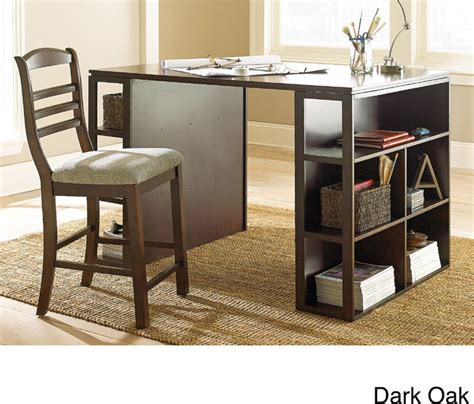 barclay black counter height desk desks and hutches by overstock