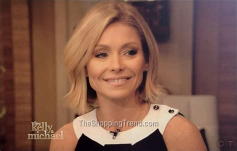 kelly ripa current hairstyle kelly ripa black white jumpsuit by roland mouret on live
