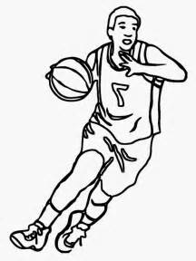 coloring pages basketball nba images