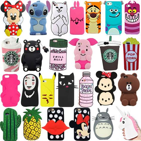 3d disney soft silicone rubber gel cover for iphone 7 p samsung lg ebay