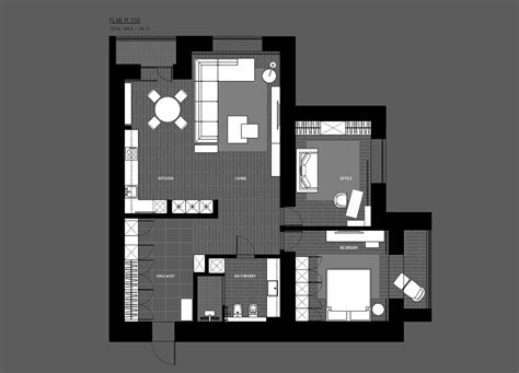 study room floor plan 5 ideas for a one bedroom apartment with study includes