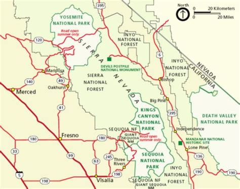 sequoia national park map sequoia and national parks wikitravel