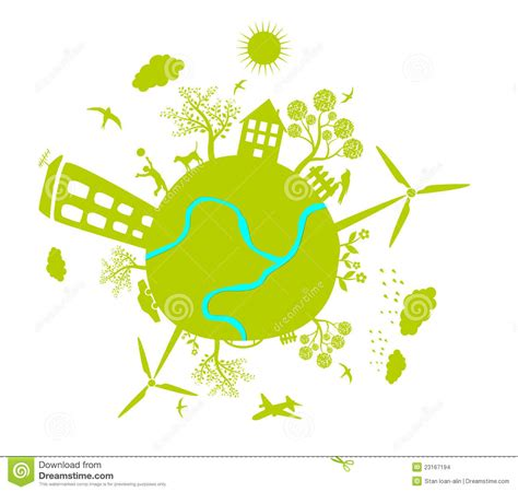 Earth House Plans by Green Life Earth Vector Stock Vector Illustration Of