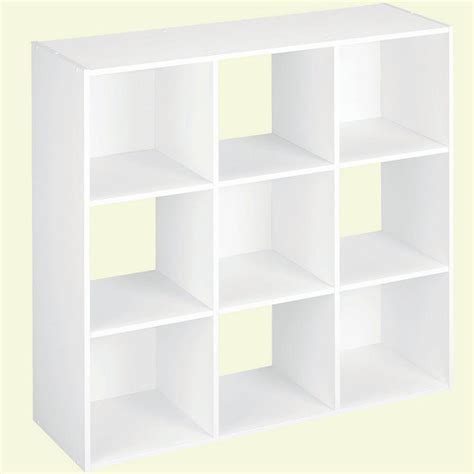 Closet Cube Organizers by Closetmaid 36 In W X 36 In H White Stackable 9 Cube