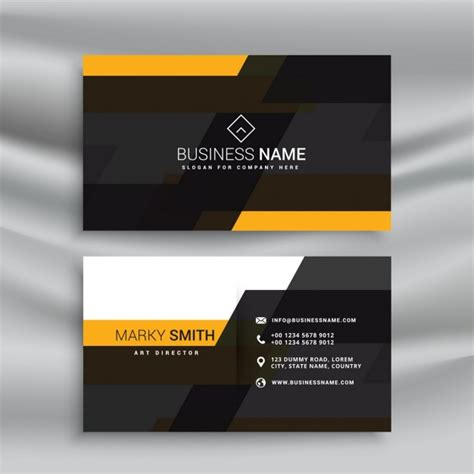 yellow business card template free yellow and black business card template design