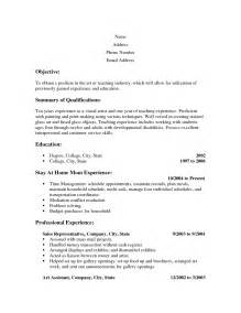 sle combination resume for stay at home stay at home resume template resume exles 2017