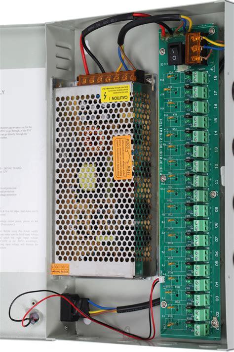 Power Supply Box 12v10a 9ch nordstrand cctv power supply distribution box unit 12v 5a 9ch 10a 18ch ebay