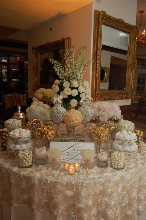Wedding Anniversary Buffet Ideas by Ivory And Gold Buffet Dessert And Bar