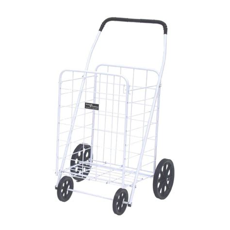 easy wheels jumbo a shopping cart in white 011wh the