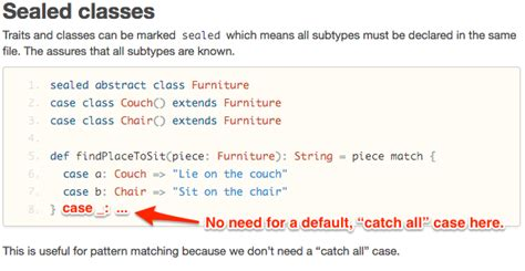 scala pattern matching on traits a good reason to use sealed traits and classes in scala