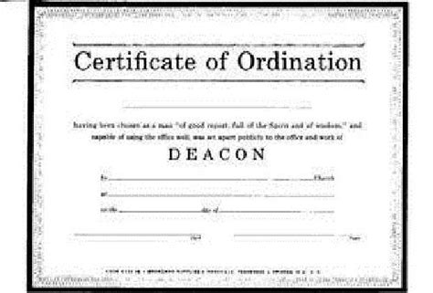 Template For Ordianation Wallet Cards by Certificate Ordination Deacon Parchment Billfold Size