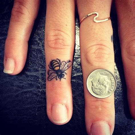 small ring tattoos best 25 honey bee ideas on bee