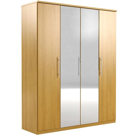 Mirrored Door Wardrobe by Appleby 4 Door Mirrored Wardrobe Bedroomfurnitureworld Co Uk