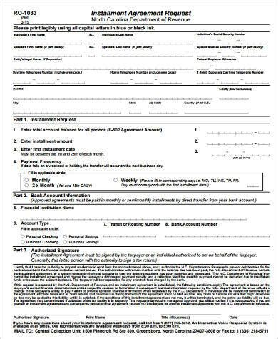 sle installment agreement best 28 word official contract request form sle event