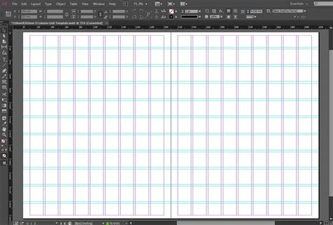 in design layout grid free indesign 210mmx265mm 9 column grid template crs