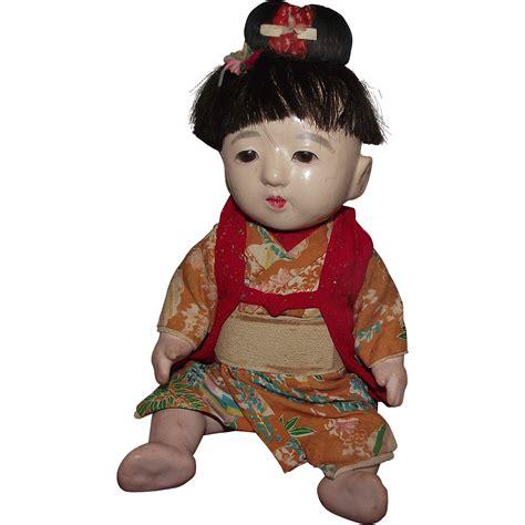 of japanese doll vintage japanese ichimatsu gofun japanese doll 12 quot circa