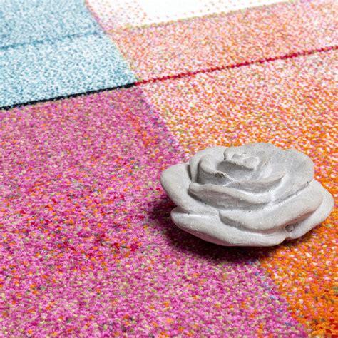 teppich bunt designer teppich modern bunt karo muster multicolour