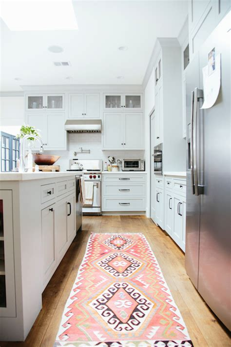 Kilim Kitchen Rug Pink Kilim Rug Transitional Kitchen Birmingham Home And Garden
