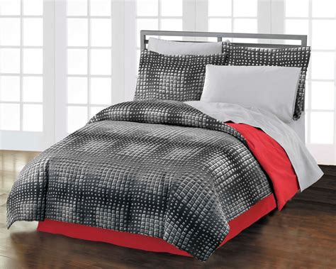 teen boy comforter set new illusion teen boys black red orange cotton comforter