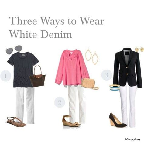 staples needed for hip wardrobe 2014 wardrobe staples white denim add a pinch