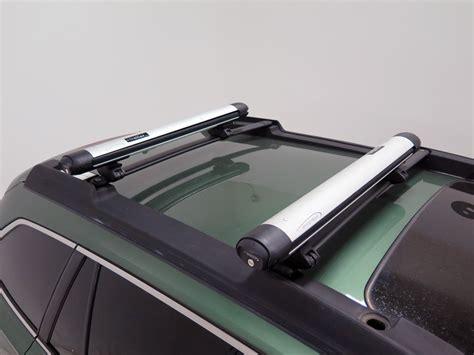 ski rack subaru subaru outback wagon whispbar locking rooftop ski and