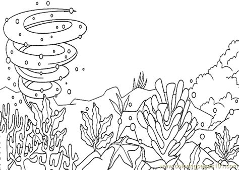 Ocean Background Coloring Page | ocean coloring pages
