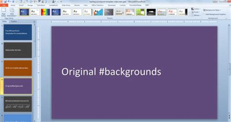 Free Hashtag Powerpoint Template With Solid Background Widescreen Powerpoint Templates
