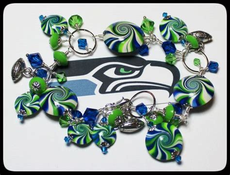 seattle seahawks handmade jewelry bracelet beaded