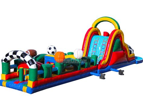 blow up bounce house bouncerland inflatable obstacle course 5012