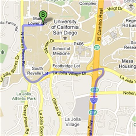 ucsd cus map driving directions to cus